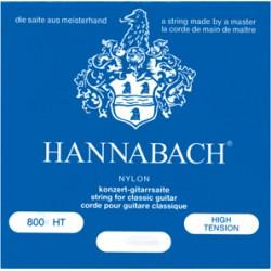 HANNABACH 800 HT Serie 800 per Chitarra Clasica, Silverplated High Tension Blue