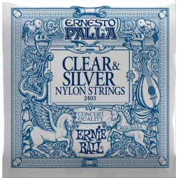 ERNIE BALL Clear & Silver Muta Chitarra Classica .028/.042