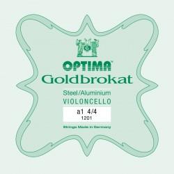 OPTIMA G.1201 Corda Singola Goldbrokat per Violoncello, LA