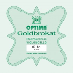 OPTIMA G.1202 Corda Singola Goldbrokat per Violoncello, RE