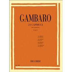 GAMBARO 21 CAPRICCI PER CLARINETTO